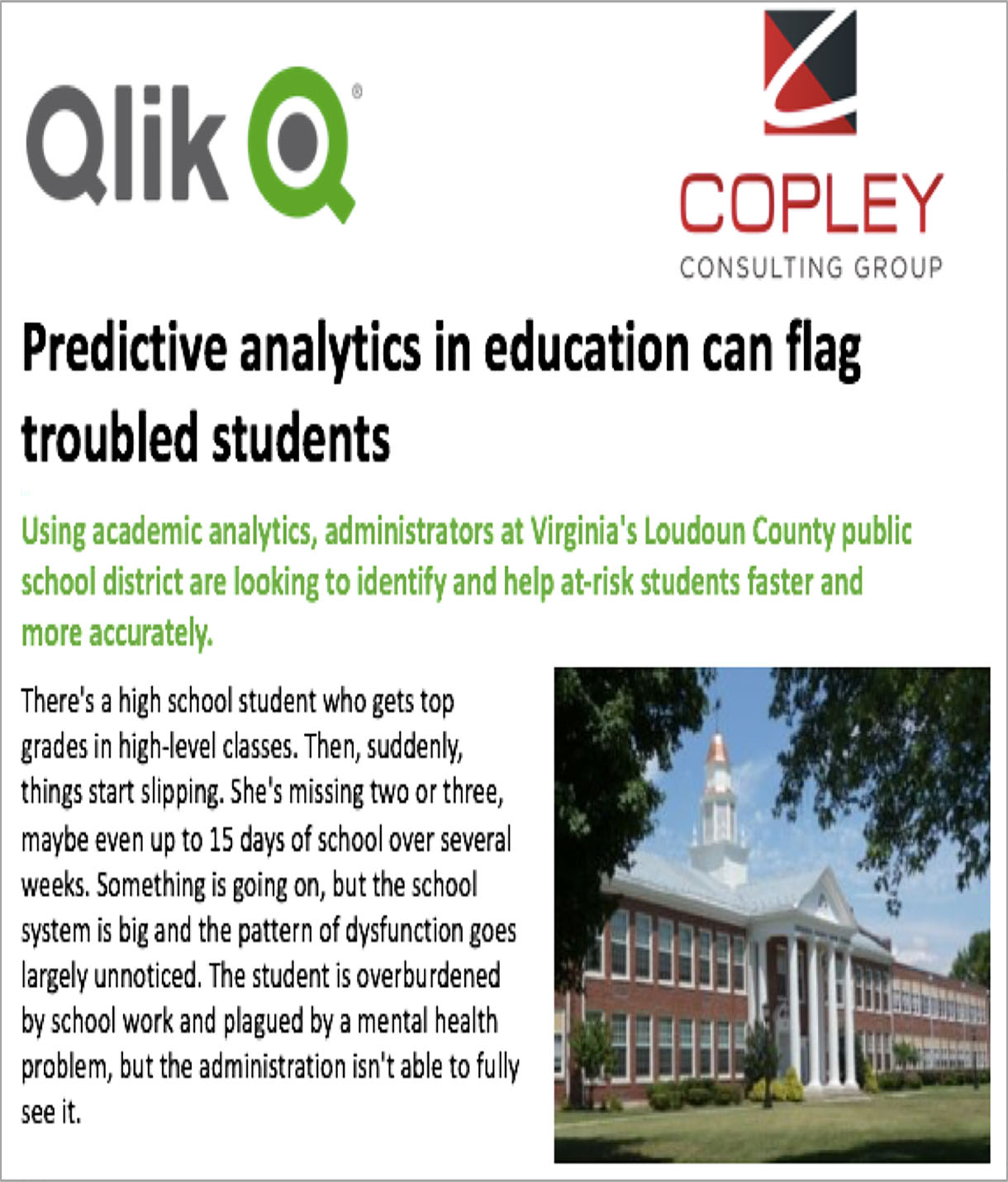 Predictive analytics in education can flag troubled students